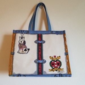 "Brighton Tom Clancy ""In Love We Trust"" Canvas Tote"